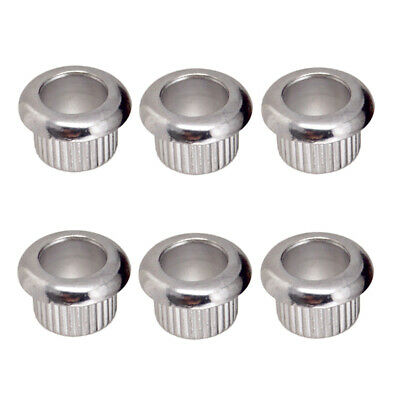 6 Pieces Guitar Tuners Conversion Bushings for LP EPI Electric Guitar Silver