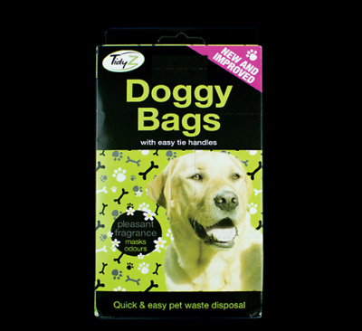 200 x Doggy Poo Bags Scented Dogs Dog Puppy Waste Poop Disposal Easy Tie Handle