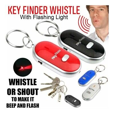 Whistle Lost Key Finder Flashing Beeping Locator Remote Chain LED Sonic Torch **
