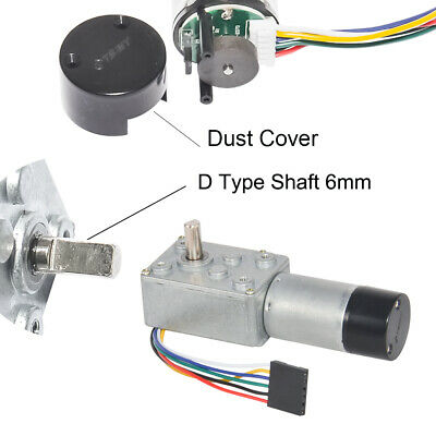 12V Low Speed With Hall Encoder 370 DC Worm Geared Motor For Robotics RC Car