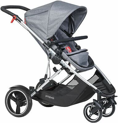 Phil & Teds VOYAGER BUGGY/STROLLER/PUSHCHAIR GREY MARL Baby Travel BN