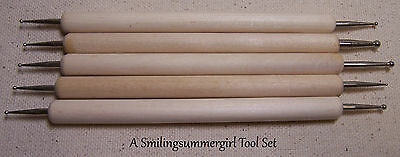 5 Ball Tip Stylus Embossing Tools for Stencils, Clay, Paper Art & Tooling Metal