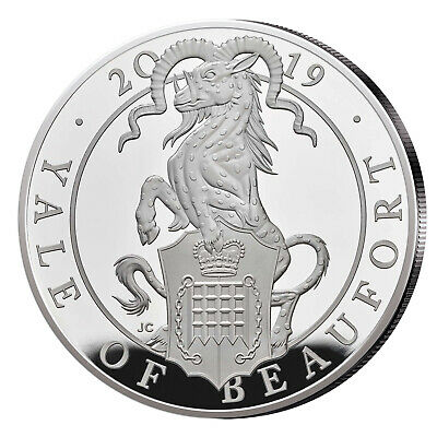 The Queens Beasts Serie 2 oz Silber 2019 Großbritannien Yale of Beaufort