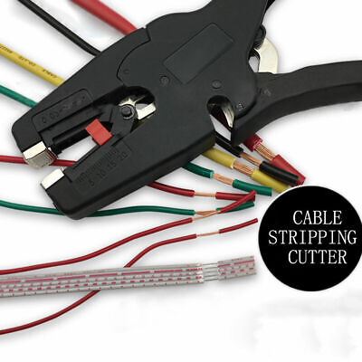 Flat Nose Self-Adjusting Insulation Wire Stripper Pliers Cable Strip Cutter Tool