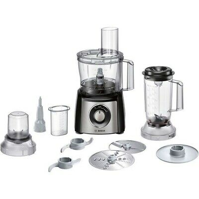 Bosch MCM3501MGB 800W Food Processor Brushed Stainless Steel - *Box Tatty*