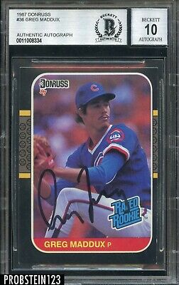 1987 Donruss 36 Greg Maddux Rated Rookie Rc Hof Cubs
