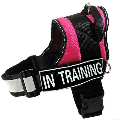 Service Dog Harness Reflective Vest label Patches IN TRAINING POLICE THERAPY DOG