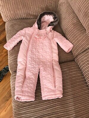 Mothercare Baby Girls Baby Pink Snowsuit 12-18 Months Pramsuit / All in One Nwot