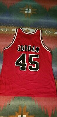 finest selection ac97d 5fcd5 VINTAGE CHAMPION CHICAGO Bulls Michael Jordan Jersey White ...