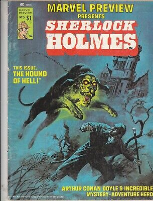 Marvel Preview  Featuring Sherlock Holmes  No 5   1976