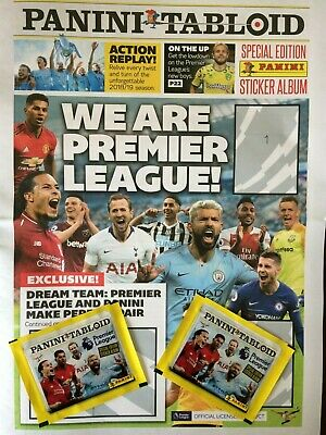 Panini Tabloid Premier League Stickers 2018/19 - Numbers 1 - 120 Buy 2 Get 8 Fre