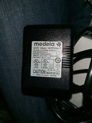 MEDELA On The Go Advanced breast pump plug electric 9v 1.0A adapter power cord