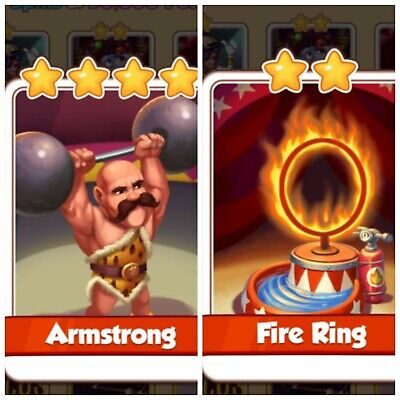 Coin Master Fire Ring & Armstrong 2 Cards