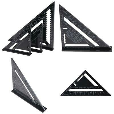 "1PC 7""/12"" Aluminum Alloy Triangle Angle Protractor Speed Square Measuring Ruler"