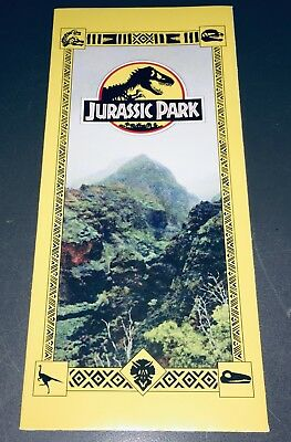 "Jurassic Park (1993) STAN WINSTON BROCHURE w/14.5x16.5"" FOLD-OUT PARK MAP + COA!"