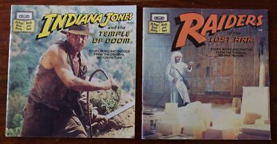 2 Vintage 80s Indiana Jones Raiders Of The Lost Ark Read Along Books no Cassette