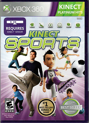 KINECT SPORTS for XBOX 360 LIVE on a VIDEO GAME of SOCCER Track VOLLEYBALL Box E