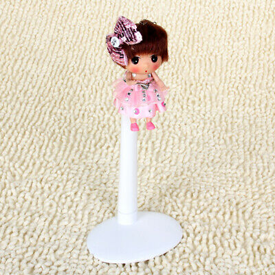 White Adjustable Doll Stand Display Holder 22-34cm for Doll Teddy Bear