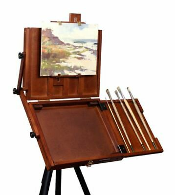Artist Easel Pochade Box Canvas Holder Storage Tray Painting Wood Wooden Palette