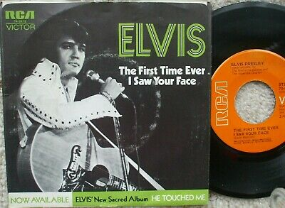 Elvis Presley- 74-0672 - An American Trilogy / The First Time Ever I Saw- 45+ PS