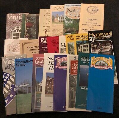 Lot of 22 Virginia Travel Brochures from 1988 1989