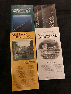Lot of 4 Virginia Travel Brochures