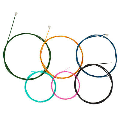 6 X Multi Colored Nylon Classical Guitar Strings Set for 6 String Guitar