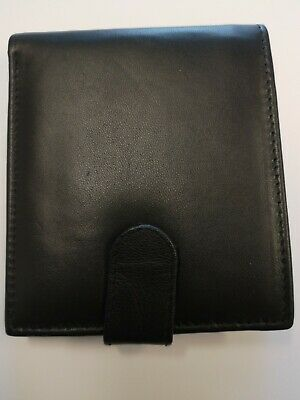 Men's Wallets With Coin Pocket Genuine Black Leather Wallet Luxury RFID New