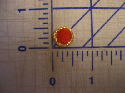 Red Dots Metallic Gold Outline Iron On Patch Embroidery Applique EDC  NPC IFB