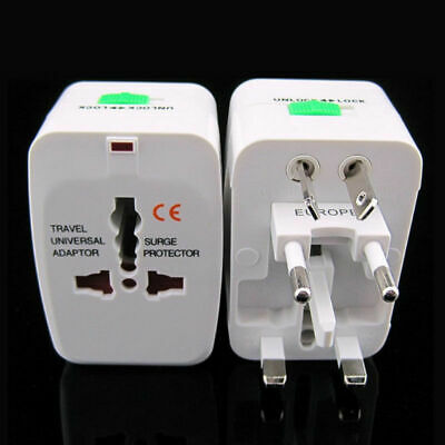 Universal World Travel Adapter Dual 2 USB Plug Charger AC Power UK US EU AU K5T5