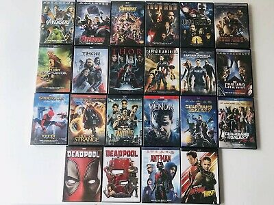22 Marvel DVD Lot Movie Avengers Collection Ant-man and the Wasp Thor 123 etc
