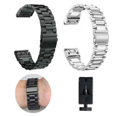 Quick Fit Metal Stainless Steel Wrist Watch Band Strap For Garmin Fenix 5 5S 5X