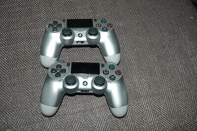 Sony PS4 DualShock 4 Wireless Controller - Silver (CUH-ZCT2U) Lot of (2)