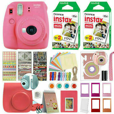 New Fujifilm Instax Mini 9 Camera+40 Sheets Film+Album+Filter+Lens+Gift Set Red