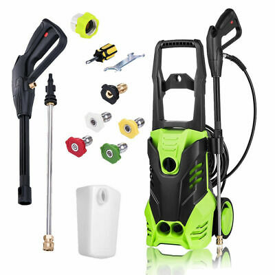 3000PSI Pressure Electric High Pressure Washer 1800W Motor Jet Sprayer 1.7GPM