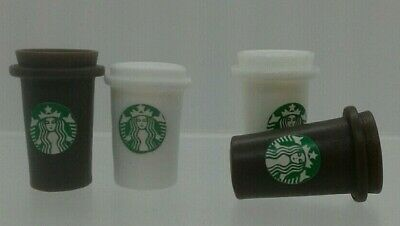 1:12th Miniature Doll House Accessories Starbuck's Coffee Containers
