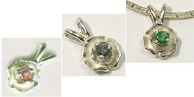 Antique 19thC Natural Handcrafted Russian Alexandrite Rose Sterling Pendant