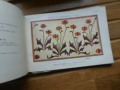 Motifs Pour Broideries Dollfus-Mieg & Co DMCc1900 rare needlework/embroidery int