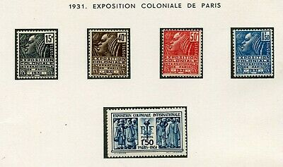 Timbre France Neuf Serie N° 270/274 * Cote + 66 € Expo Coloniale Paris 1931