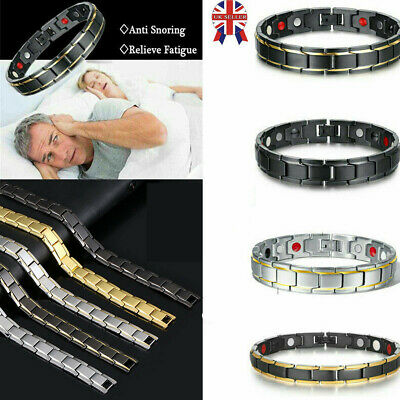 Therapeutic Energy Healing Bracelet Magnetic Therapy Bracelets Stainless Steel