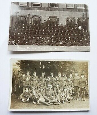WW1 Foreign Service Company. B. Lincolnshire Regiment 9/11/14 Postcard + another