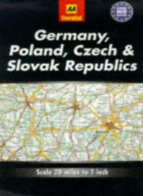 Essential Road Map Germany, Poland, Czech and Slovak Republics (AA Essential E,