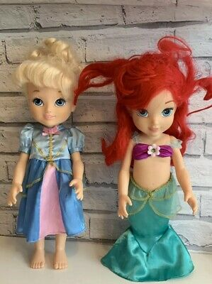 2 x Disney Toddler Dolls Ariel Little Mermaid