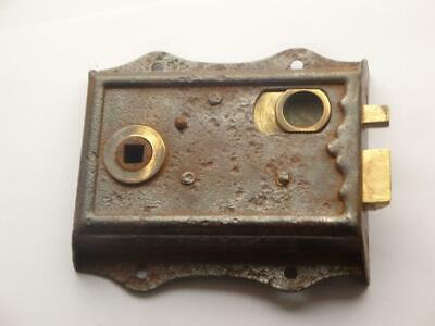 Superb Rare Antique Victorian Surface Mounted Door Latch Wc Lock Fully Working.