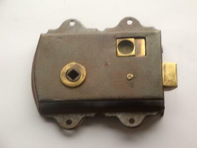 Superb Rare Antique Victorian Surface Mounted Door Latch Wc Lock Fully Working