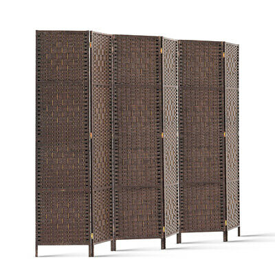 Artiss 6 Panel Room Divider Privacy Screen Rattan Timber Dividers Stand Woven
