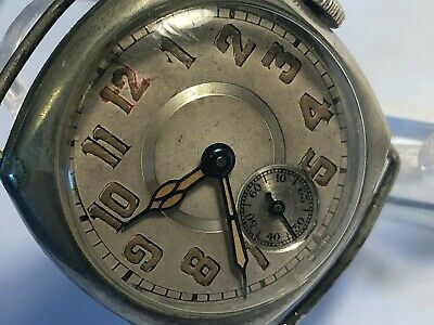 Vintage Swiss Made Art Deco Abra Men's Wind-Up Wristwatch Runs Great