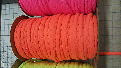 Carrot 3-Strand Braid Non Stretch Rouleau Noodle Spaghetti Hollow Tubular Strap