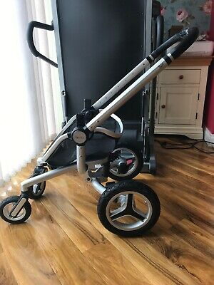 Silver Cross Surf 2 Pram Frame Chassis With Wheels And Large Basket