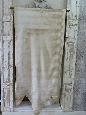 French antique church BANNER Patina -  Fahne Prozession shabby Brocante
